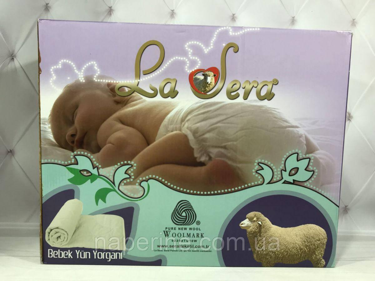 Одеяло шерстяное 100х145см в кроватку детское La sera Турция.