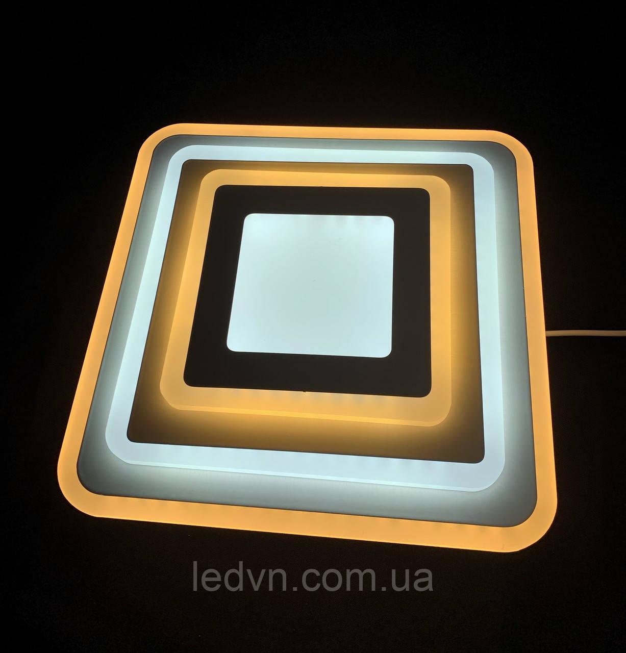 Светодиодный потолочный светильник квадрат 32 ватт