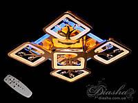 Потолочная люстра с диммером и LED подсветкой, цвет золото, 110W (S8157/4+1G LED 3color dimmer)