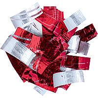 Конфетти-Метафан ЛК612 Красно-Серебряный 2х6 1кг, фото 1
