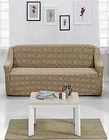 Жаккардовый чехол на любой диван, фото 1
