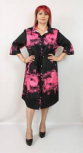 Турецкое женское платье - рубашка больших размеров 56-64