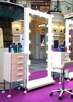 Гримерное дзеркало з підсвічуванням, підлогове 1800х800 Дзеркало голивудское Дзеркало з лампами Дзеркало з підсвічуванням