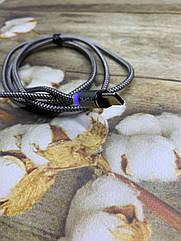 Магнитный USB кабель TOPK 1метр с LED подсветкой Type-C
