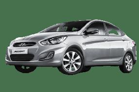 Накладки на пороги для Hyundai (Хюндай) Accent/Solaris 4 2011-17