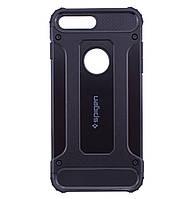 Бронированный противоударный TPU+PC чехол SPIGEN для IPhone 7 Plus / 8 Plus Black