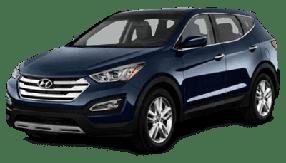 Накладки на пороги для Hyundai (Хюндай) Santa Fe 3 2012-2018