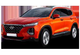 Накладки на пороги для Hyundai (Хюндай) Santa Fe 4 2018+