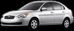 Накладки на пороги для Hyundai (Хюндай) Accent/Verna 3 2006-2010