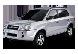 Накладки на пороги для Hyundai (Хюндай) Tucson 1 2004-2010