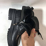 Женские зимние ботинки на каблуку р. 37,38,41 Черные, фото 3