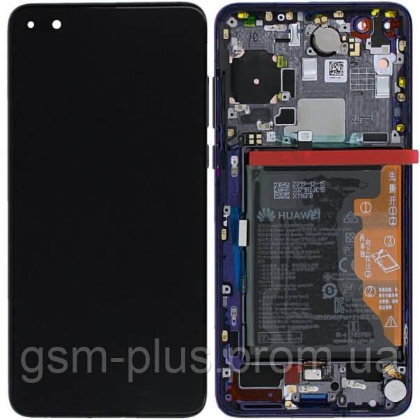 Дисплей Huawei P40 (ANA-AN00 /  ANA-TN00 / ANA-NX9) complete with frame and battery Black Original