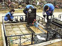 Облицовка могил брусчаткой