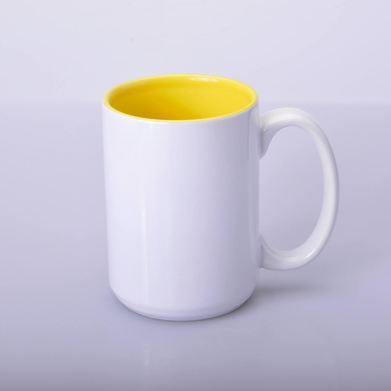 Кружка для сублимации цветная внутри 425 мл (жёлтый)