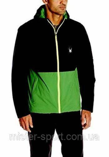Мужская лыжная куртка Spyder Men's Berner Ski Jacket, Black/Green/Bright Yellow, XL