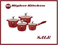 Набор круглых казанов с ковшом  Higher Kitchen