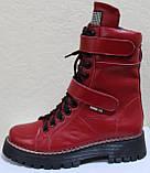 Ботинки высокие женские зимние кожаные от производителя модель КЛ230, фото 2