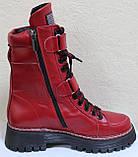 Ботинки высокие женские зимние кожаные от производителя модель КЛ230, фото 3