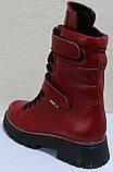 Ботинки высокие женские зимние кожаные от производителя модель КЛ230, фото 4