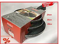 Набор антипригарных гранитных сковородок OLINA Granite (3шт.)