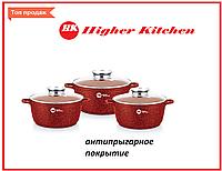Набір круглих гранітних казанів Higher Kitchen (3шт), фото 1