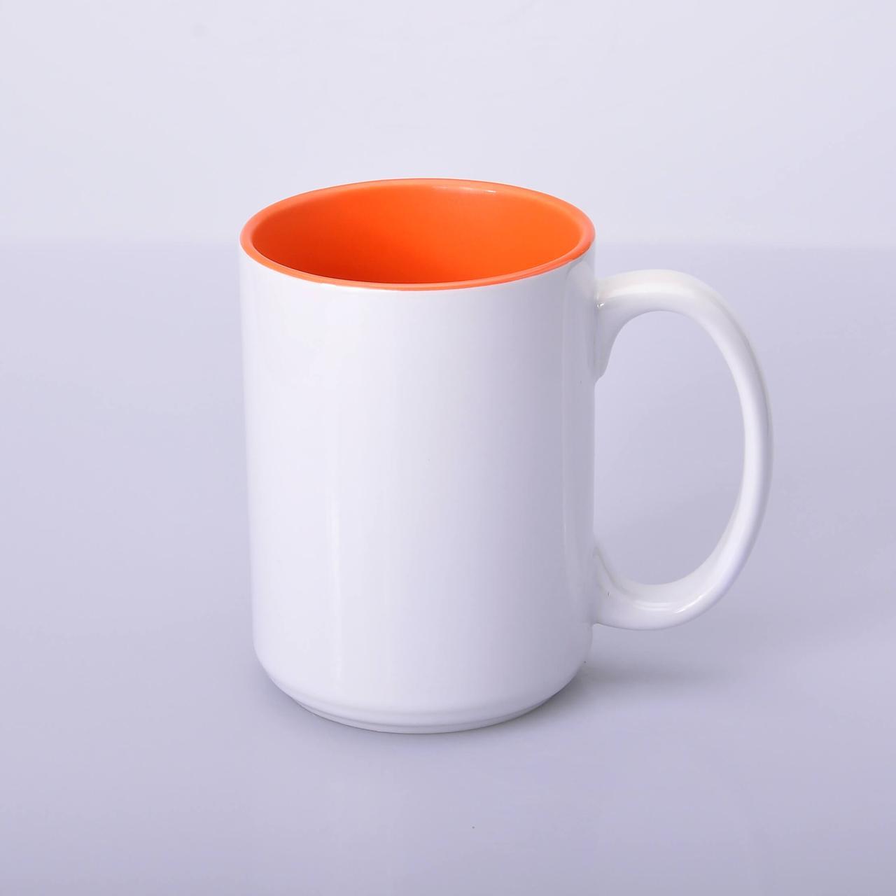 Кружка для сублимации цветная внутри 425 мл (Оранжевый)