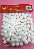 Белые пенопластовые шары 1.5см,новогодний декор снег