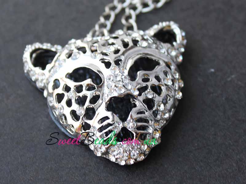 Кулон Тигр объемный, серебро