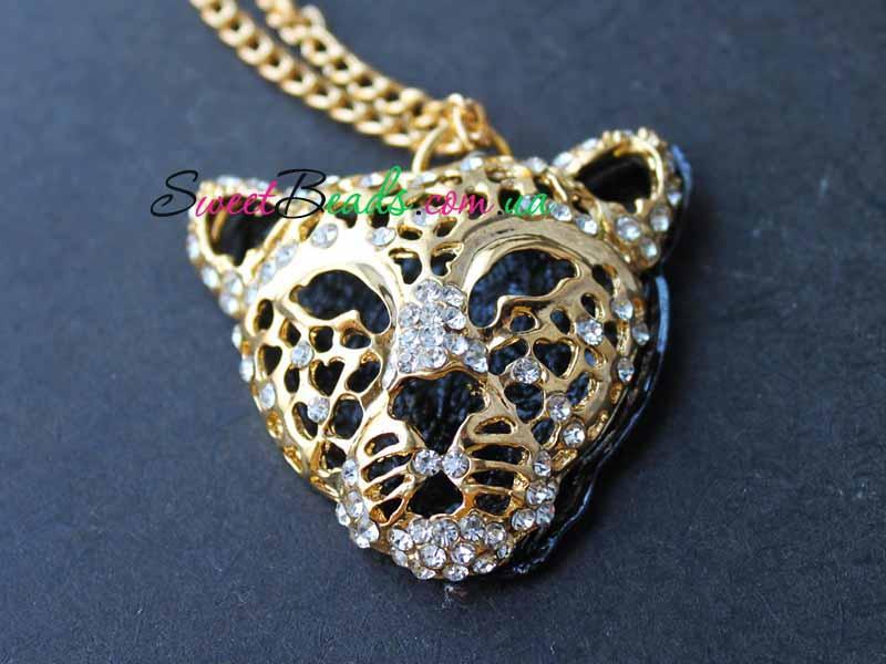 Кулон Тигр объемный, золото