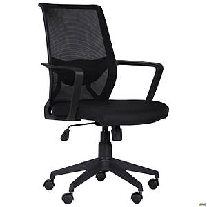 Офисное компьютерное кресло АМФ Tin пластик сетка-ткань черная