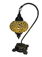 Настольный изогнутый турецкий светильник кэмэл  Sinan из мозаики ручной работы золотой