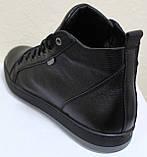 Ботинки осенние на байке мужские кожаные от производителя модель ВК004, фото 4