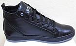 Ботинки осенние на байке мужские кожаные от производителя модель ВК004, фото 3
