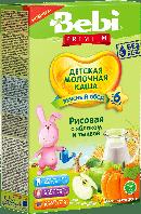 Каша молочная рисовая с яблоком и тыквой Bebi Premium, 200 г