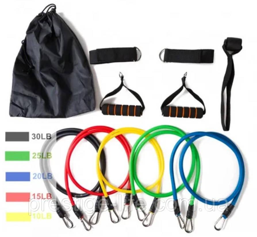 Набор эспандеров для фитнеса многофункциональный 5 жгутов Power Resistance Bands