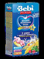 Каша молочная 3 злака с малиной и мелисcой Bebi Premium, 200 г