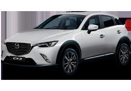 Накладки на пороги для Mazda (Мазда) CX-3 2015+