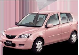 Накладки на пороги для Mazda (Мазда) 2 I (DY)/Demio 2002-2007