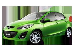 Накладки на пороги для Mazda (Мазда) 2 II (DE) 2007-2014