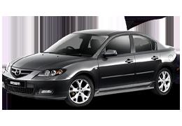 Накладки на пороги для Mazda (Мазда) 3 I (BK) 2003-2008