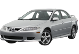 Накладки на пороги для Mazda (Мазда) 6 I (GG) 2002-2007