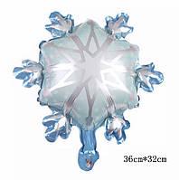 Фольгированный шар мини-фигура Снежинка 36х32см