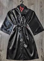 Женский атласный халат