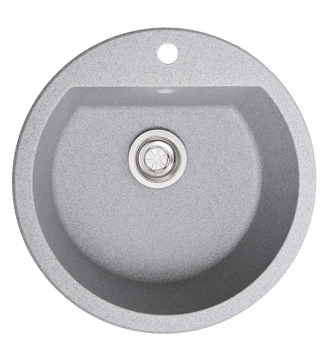 Кухонна мийка гранітна Galati Kolo Seda (601) 8664 сірий