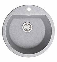 Кухонна мийка гранітна Galati Kolo Seda (601) 8664 сірий, фото 1
