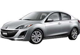 Накладки на пороги для Mazda (Мазда) 3 II (BL) 2009-2013
