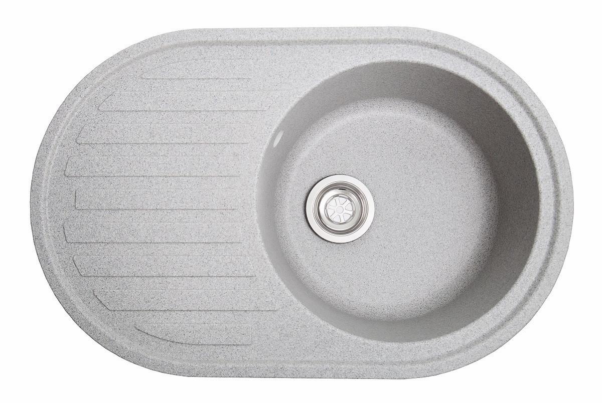 Кухонна мийка гранітна Galati Elegancia Seda (601) 8688 сірий