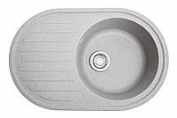 Кухонна мийка гранітна Galati Elegancia Seda (601) 8688 сірий, фото 1