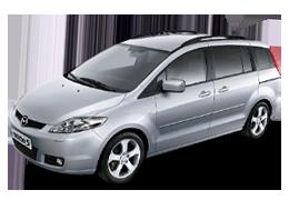 Накладки на пороги для Mazda (Мазда) 5 II 2005-2010
