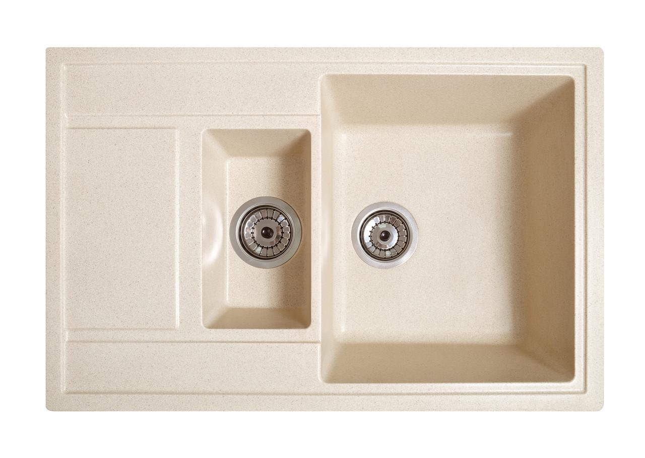 Кухонна мийка гранітна Galati Jorum 78D Avena (501) 3341 авена